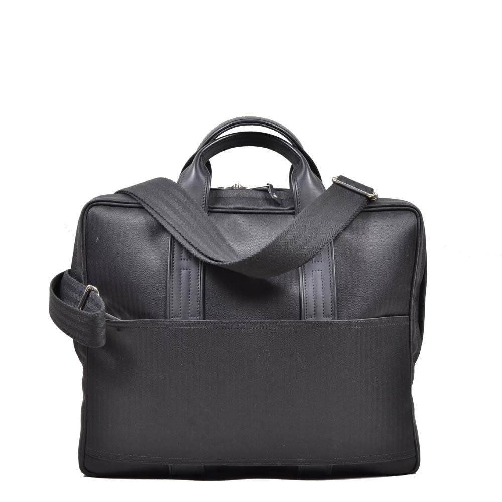 Hermes briefcase canvas black PL with shoulderstrap ( ) 1100 Kopie