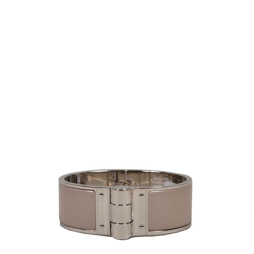 Hermes charniere bracelet beige mud silver Kopie