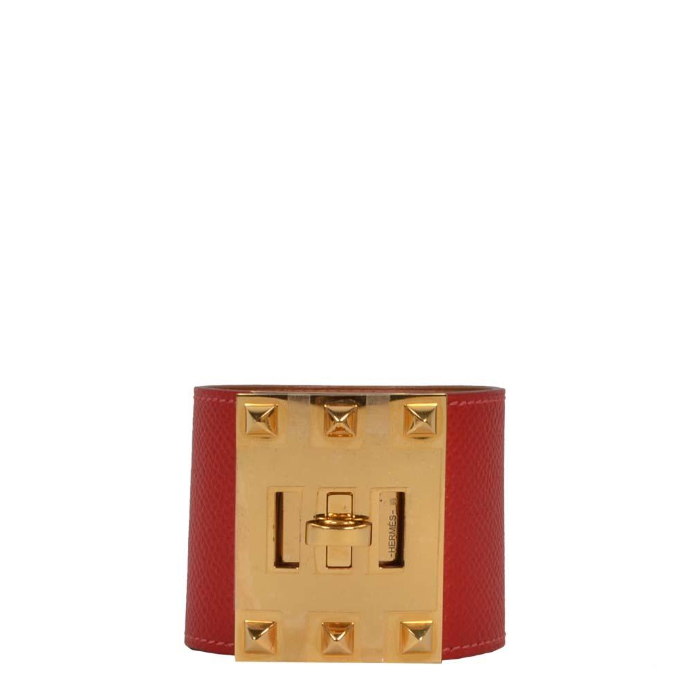 Hermes exterme bracelet red gold Kopie