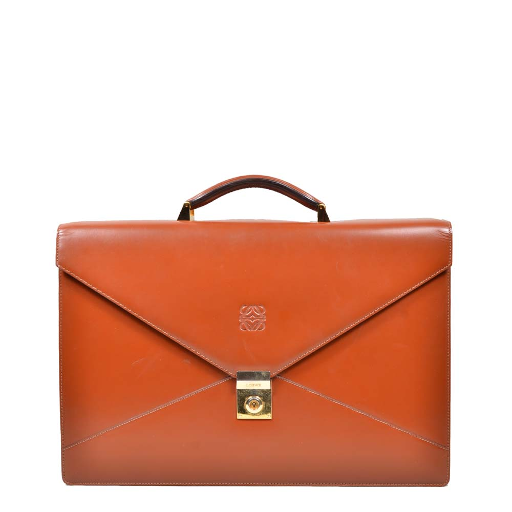 Loewe Suitcase Congac Gold Hardware with one Handle ( ) 400 Kopie