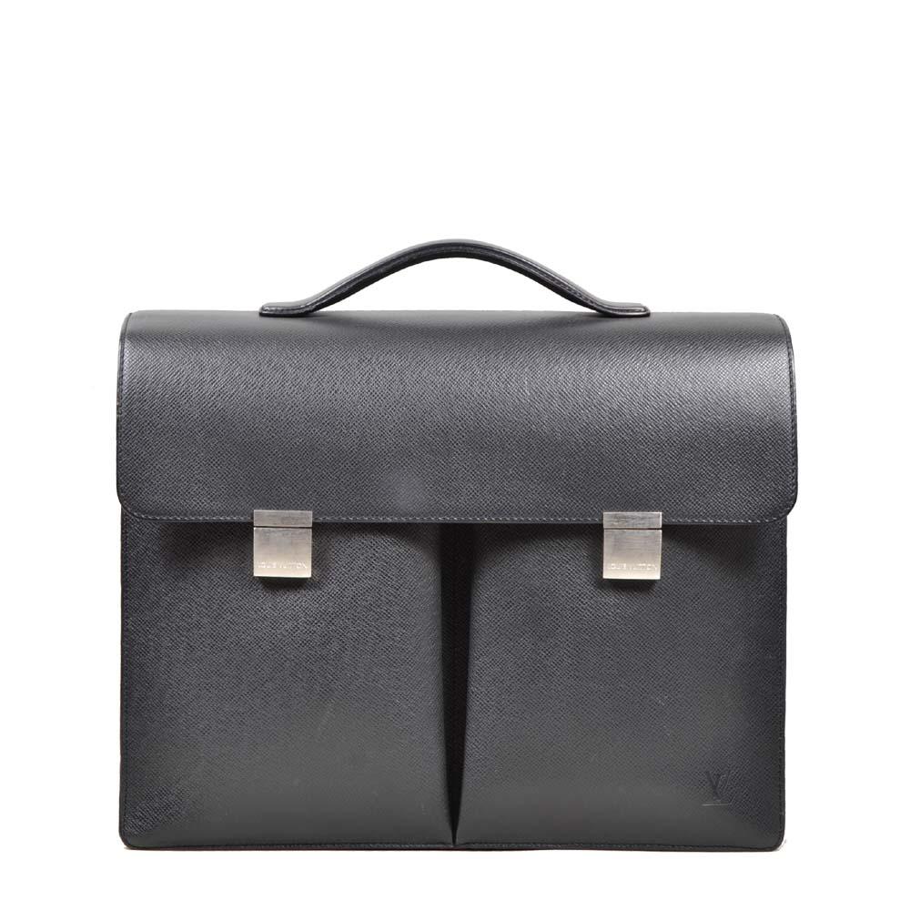 Louis Vuitton briefcase Serviette Taiger leather black silver ( ) 1200 Kopie