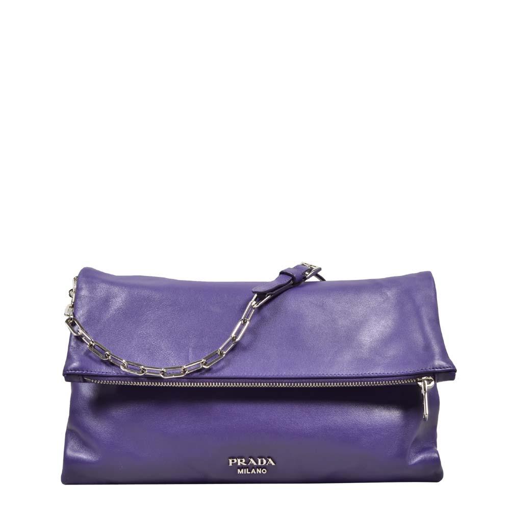 Prada Bag Purple Leather Silver Hardware ( 30 x 19 x6 ) 650 Kopie