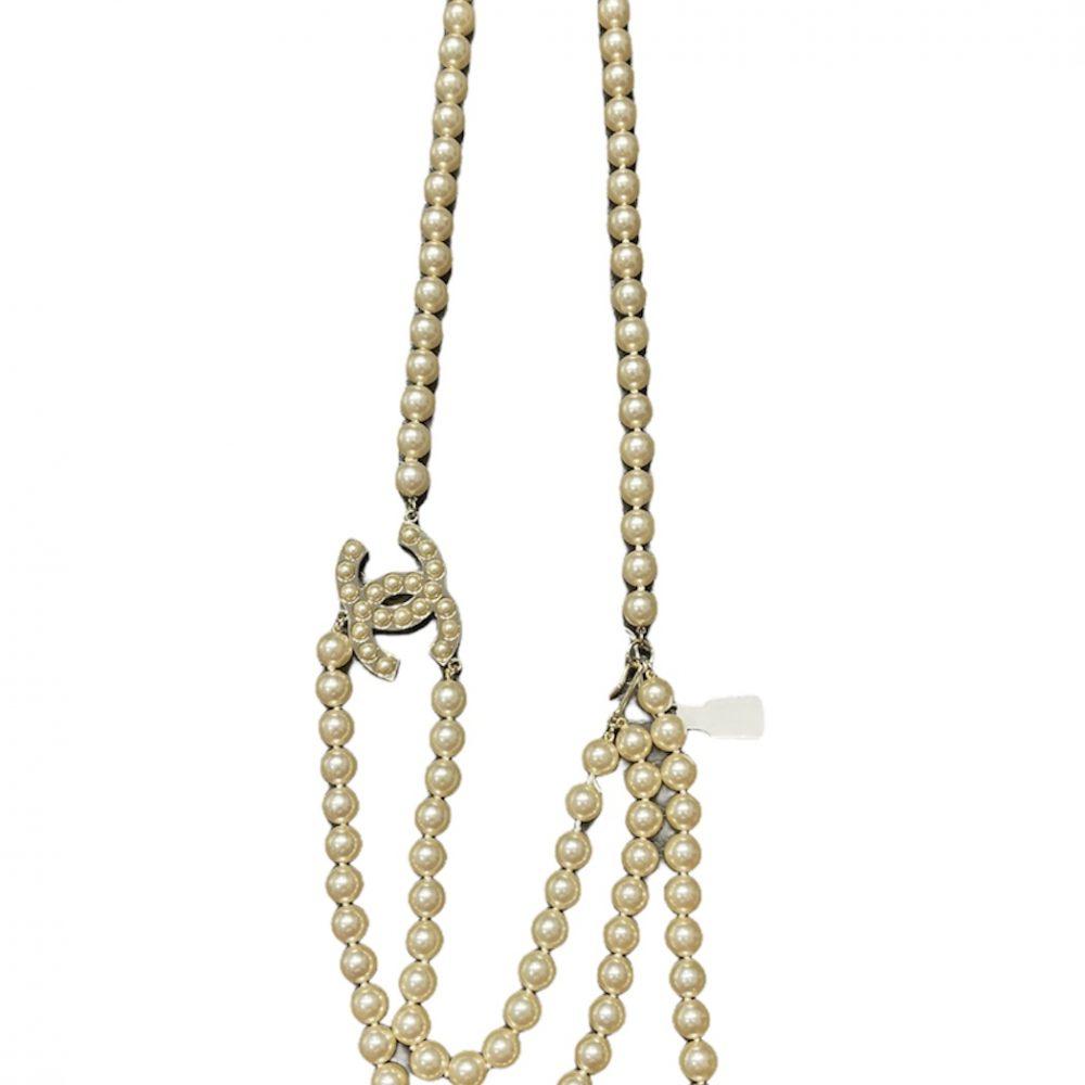 Chanel Gürtel belt perlen Cc gold belt