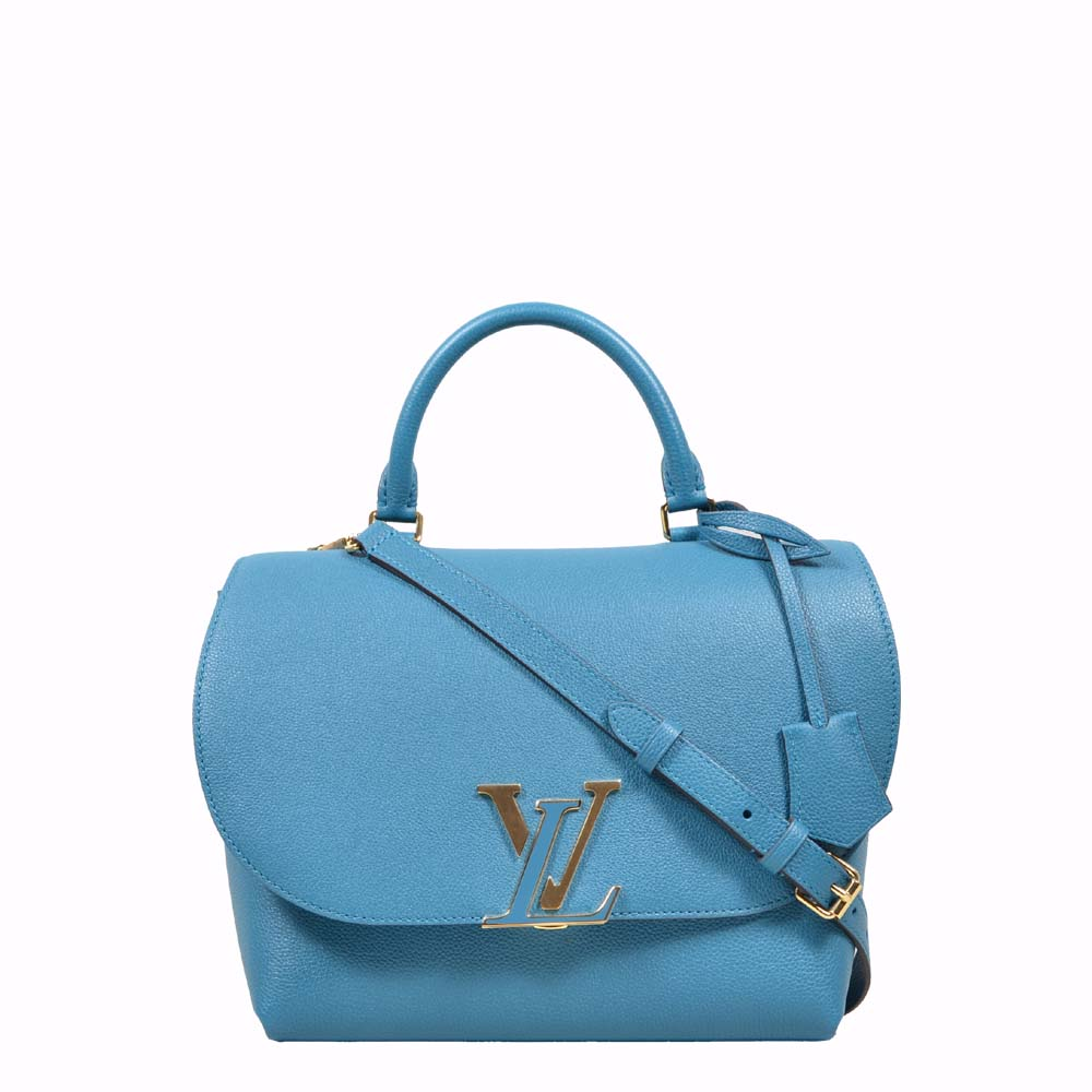 Louis Vuitton Crossbody Bag Blue LockMe Over Gold ( ) 2 Kopie