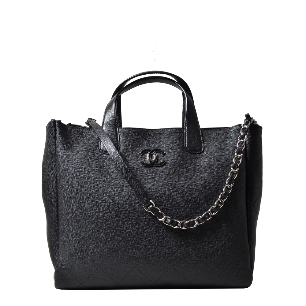 Chanel Cavair Shopper black