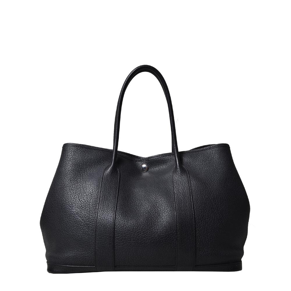 Hermes Bag Garden Party leather black Palladium ( ) 2200 Kopie