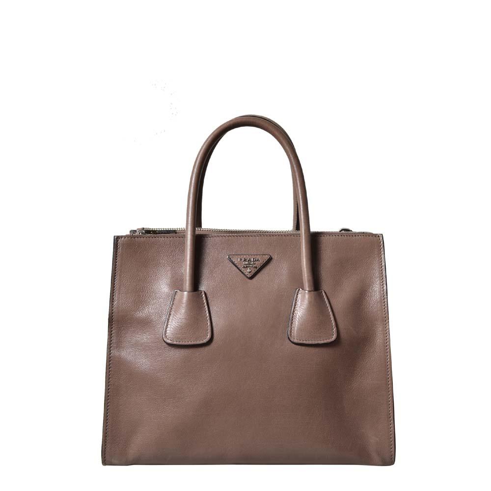 Prada Bag Beige brown HW Silver ( 30 x 26 x 24cm ) Kopie