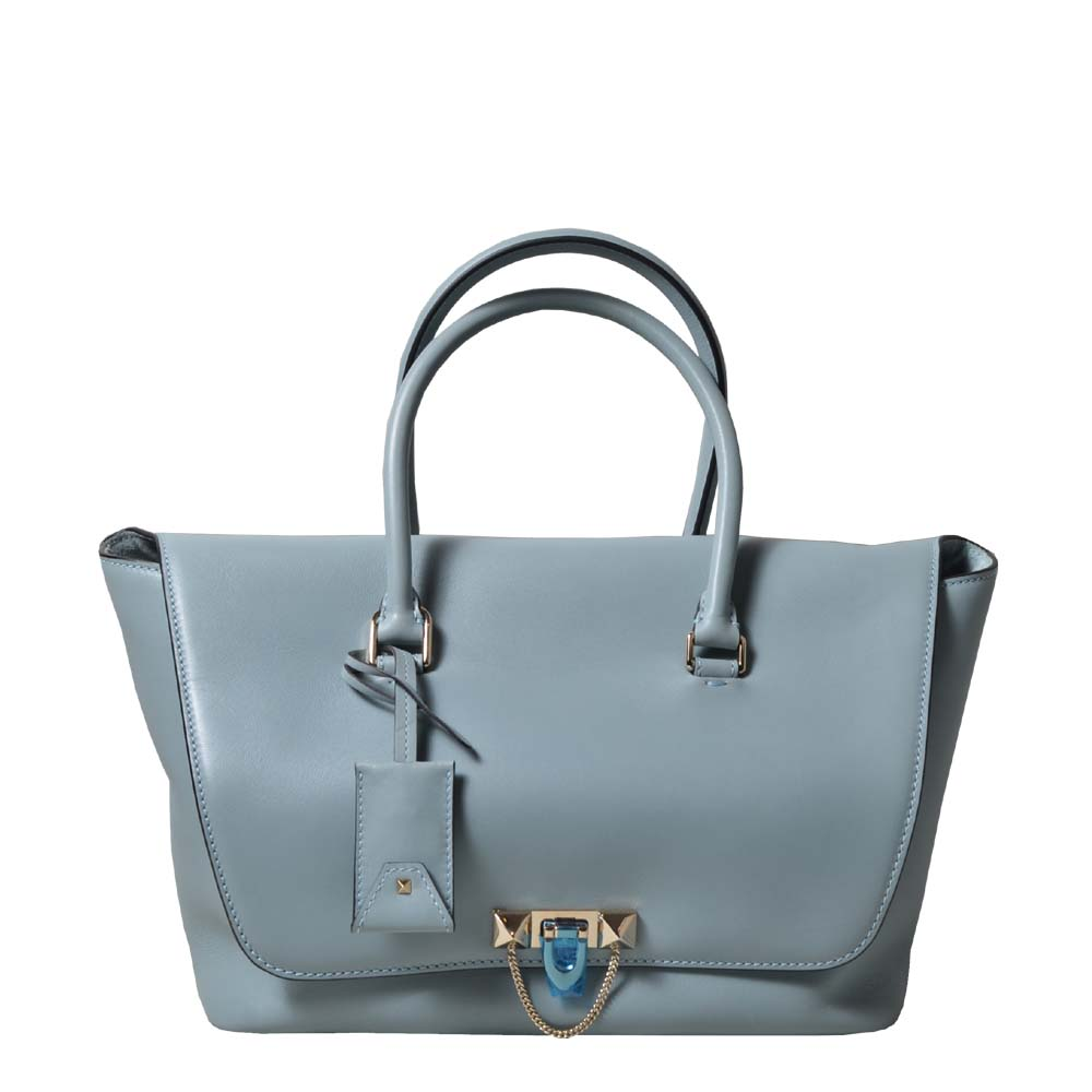 Valentino Bag Rockstud double handle lightblue silver ( ) 1