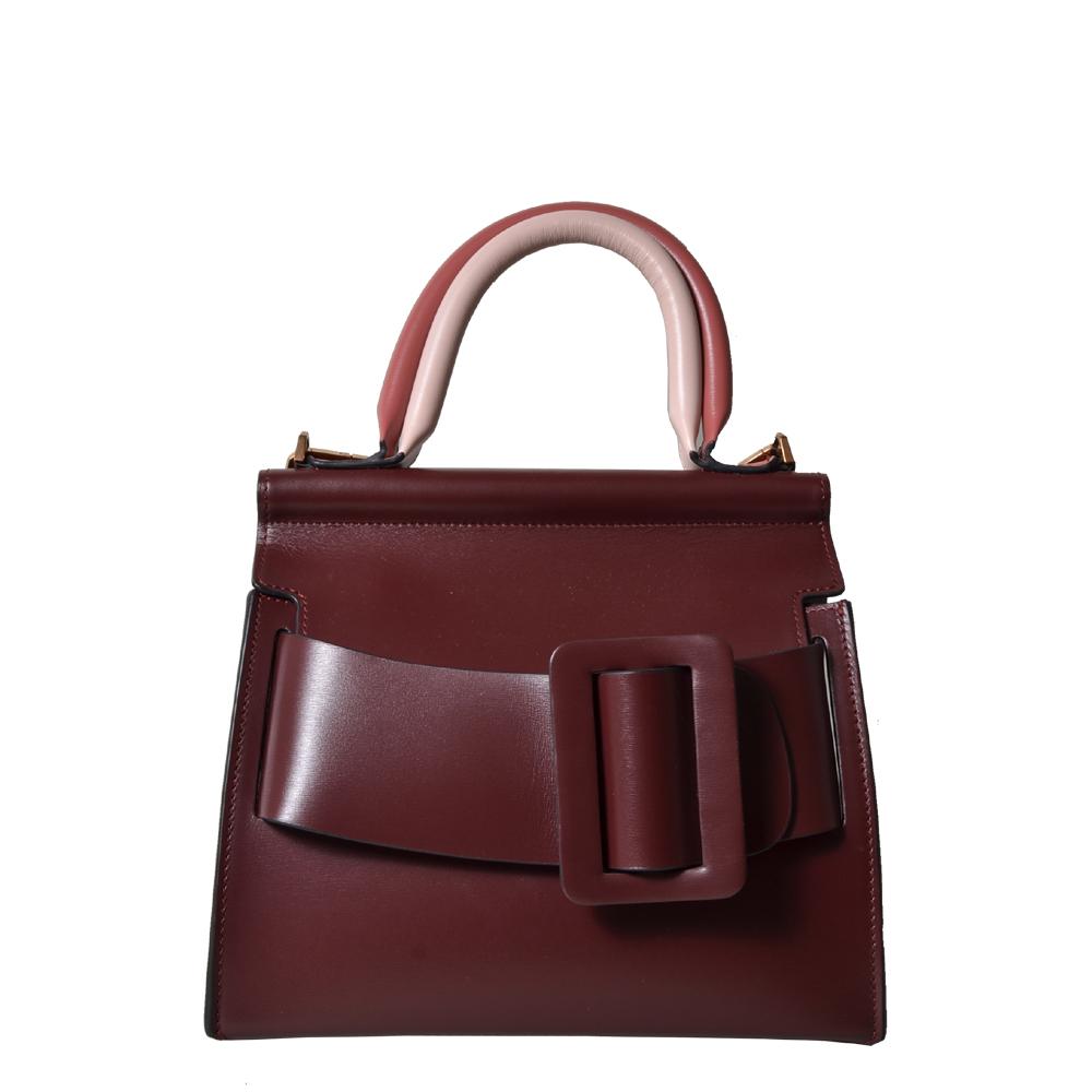 Boyy bag bordeaux double handle rose shoulderstrap 900 ( ) Kopie