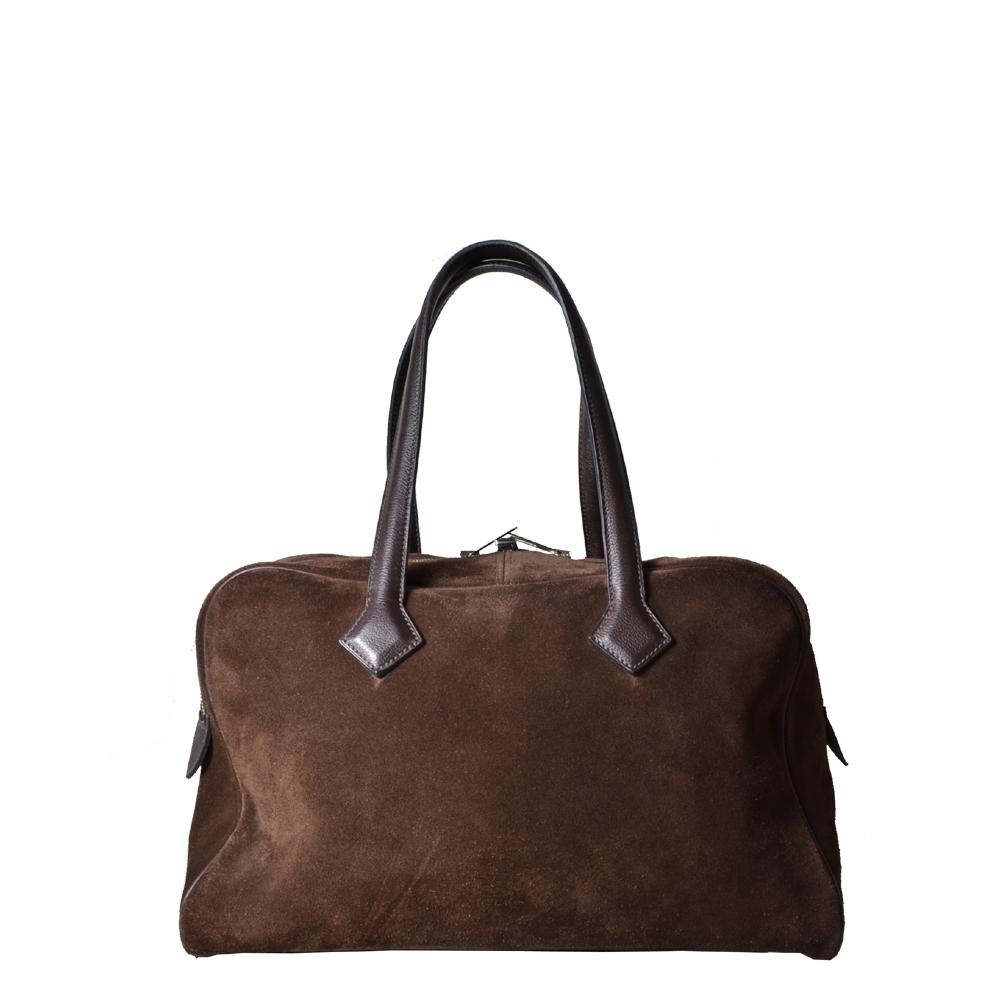 Hermes Bag Victoria leather suede brown PL ( ) 2