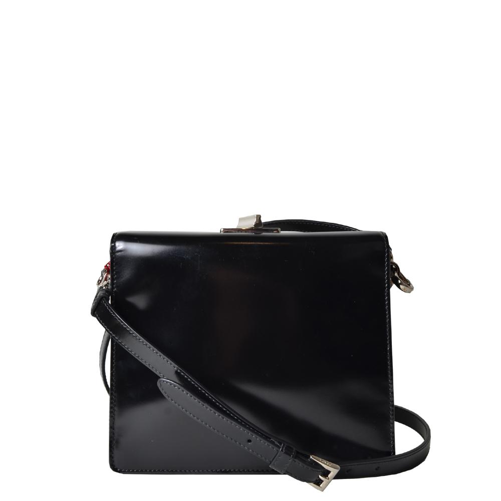 Prada bag leather Spazzolatch black ploished ( ) 800 Kopie