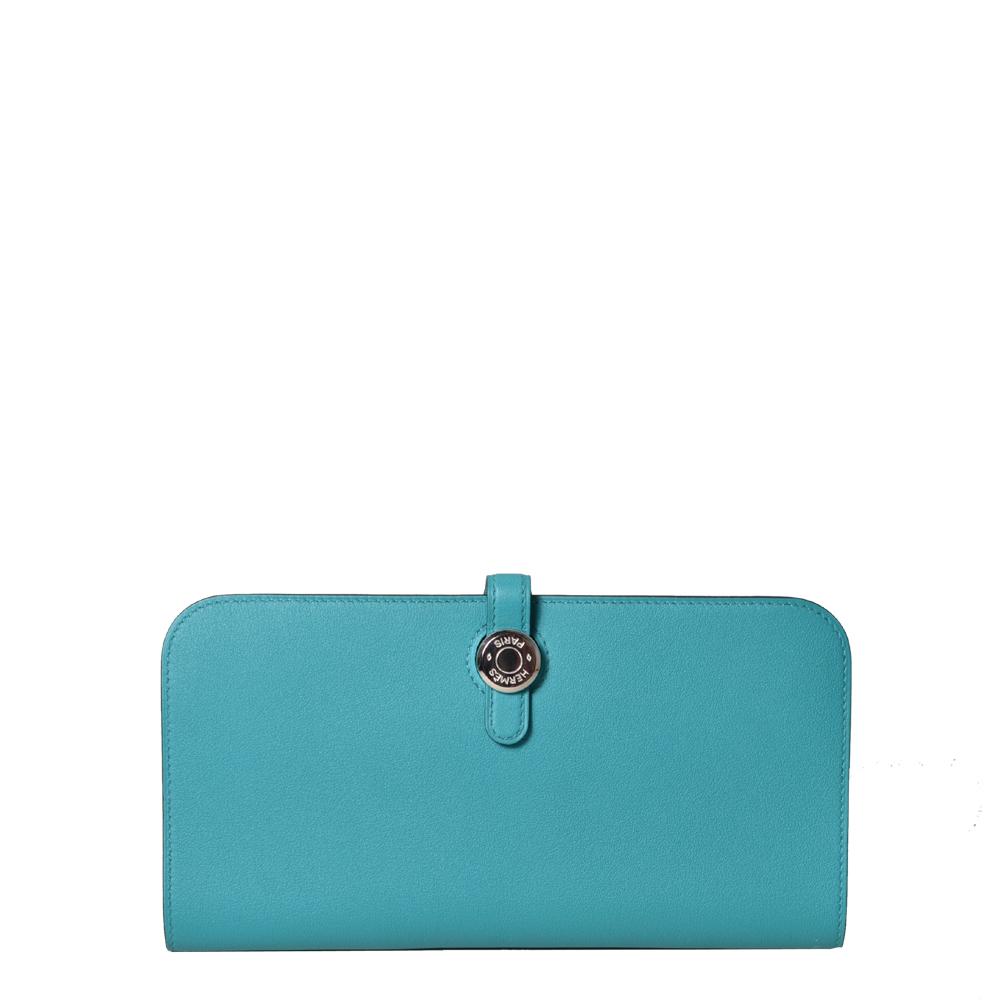 Hermes Wallet Dogon Blue Izmir Palladium 1.400 ( )