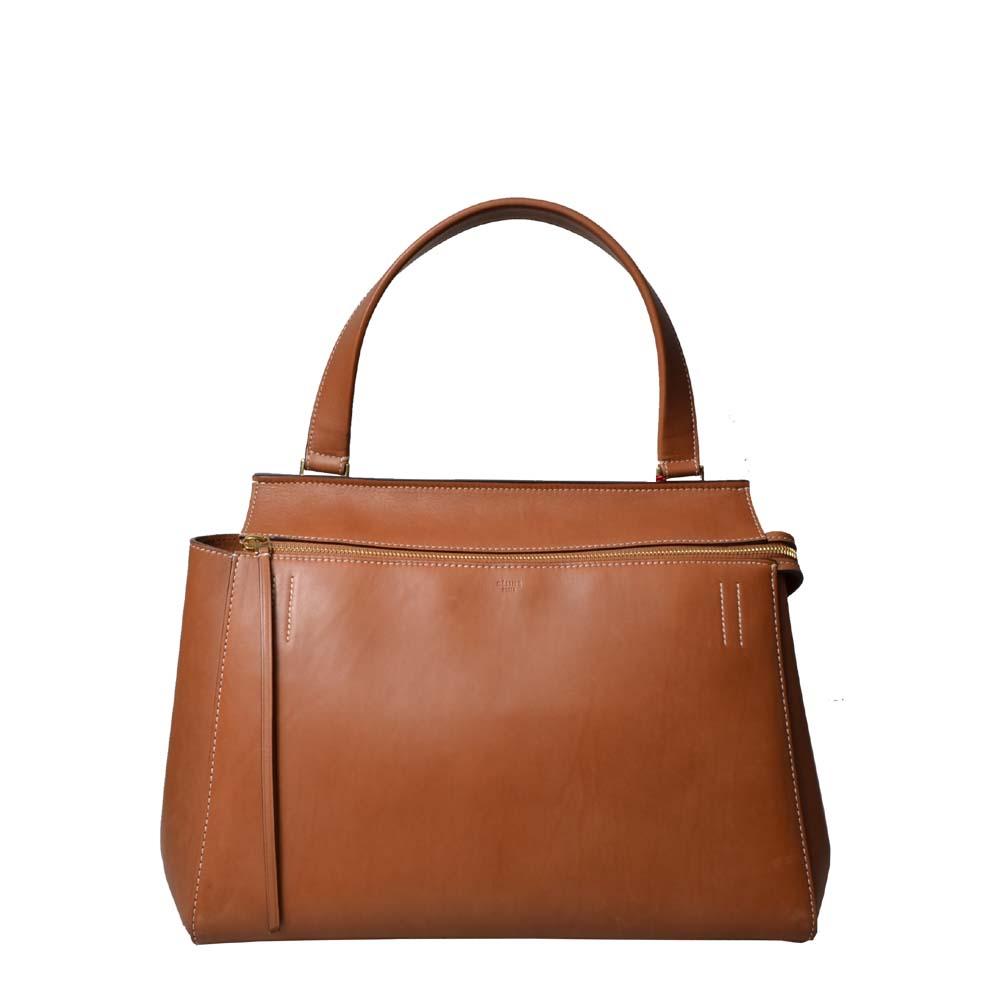 Celine Tasche Tie Knote Cognac Leder Natur Bag leather