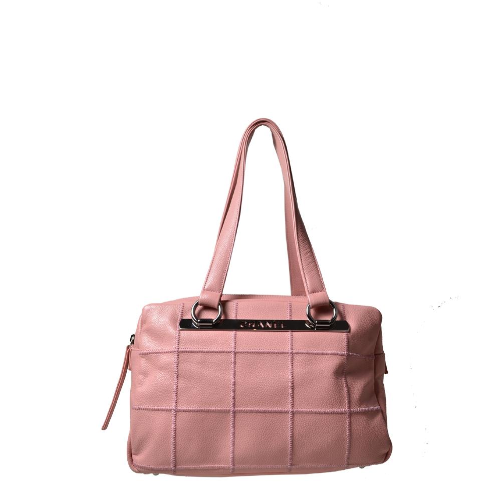 Chanel Tasche Cavier rosa Silber Bowling 1.200 ( )
