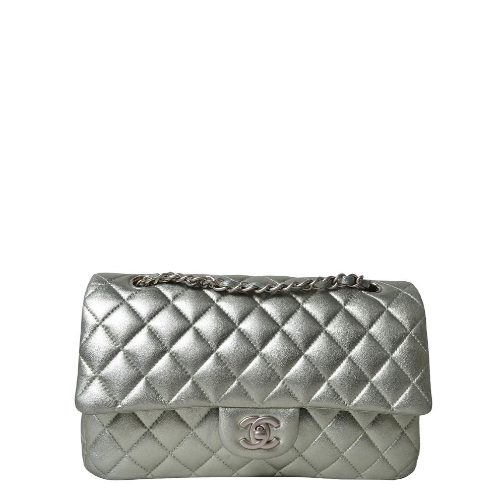 Chanel Tasche Timeless 26 Nappa Metallic Silber 4.500 ( )