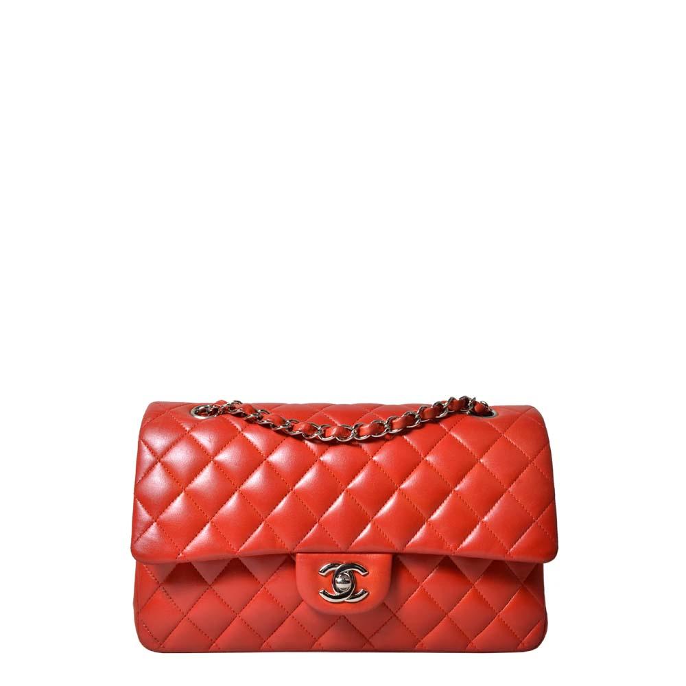 Chanel Tasche Timeless 26,5 Nappa rot Palladium 3.500 ( )ewa lagan secondhand frankfurt