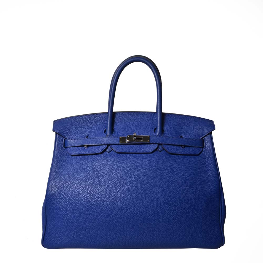 Hermes Birkin 35 Blue Electric Palladium ewa lagan secondhand frankfurt