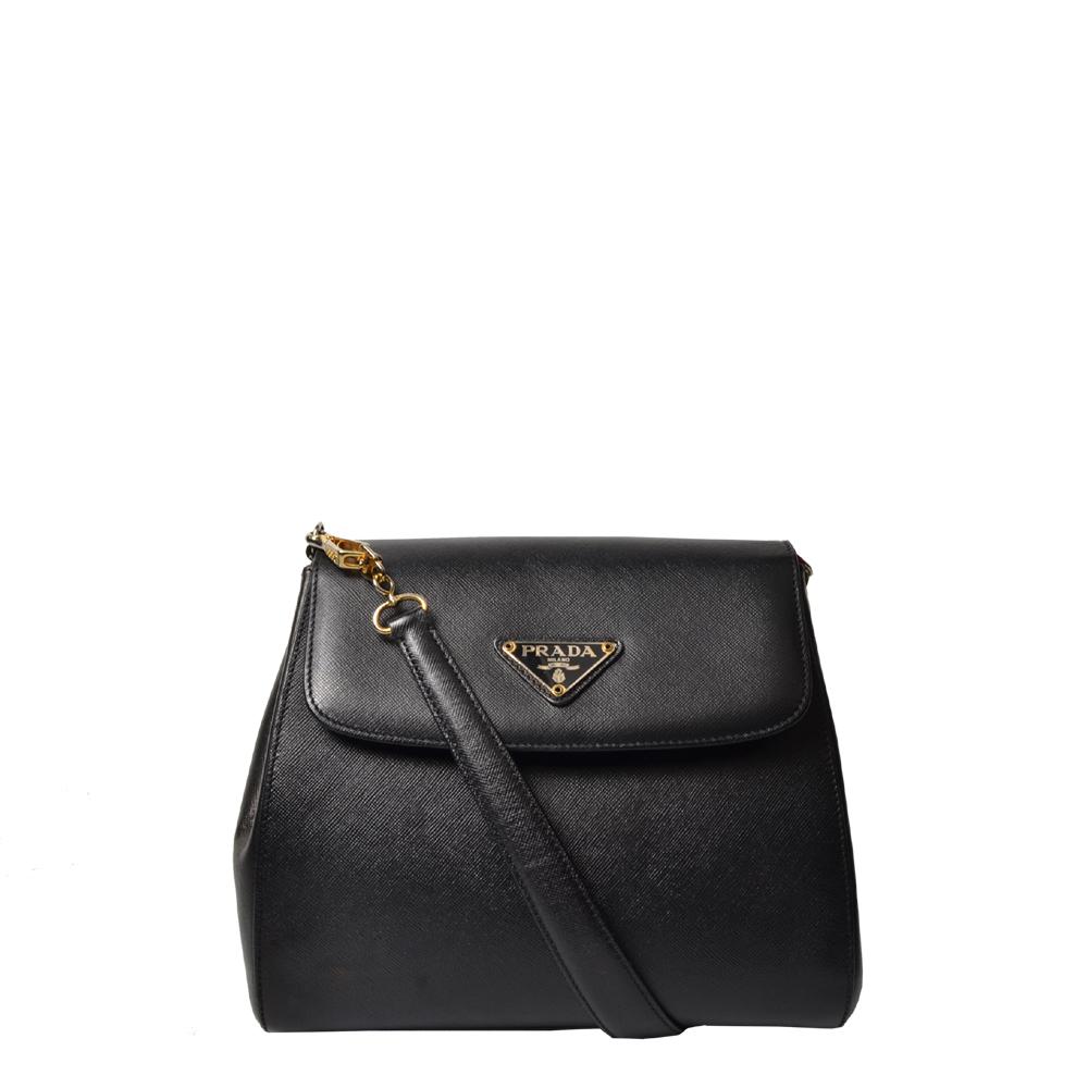 Prada Tasche Saffiano Leder schwarz Tote Style mit Schulterriemen 800 ( ) Kopie