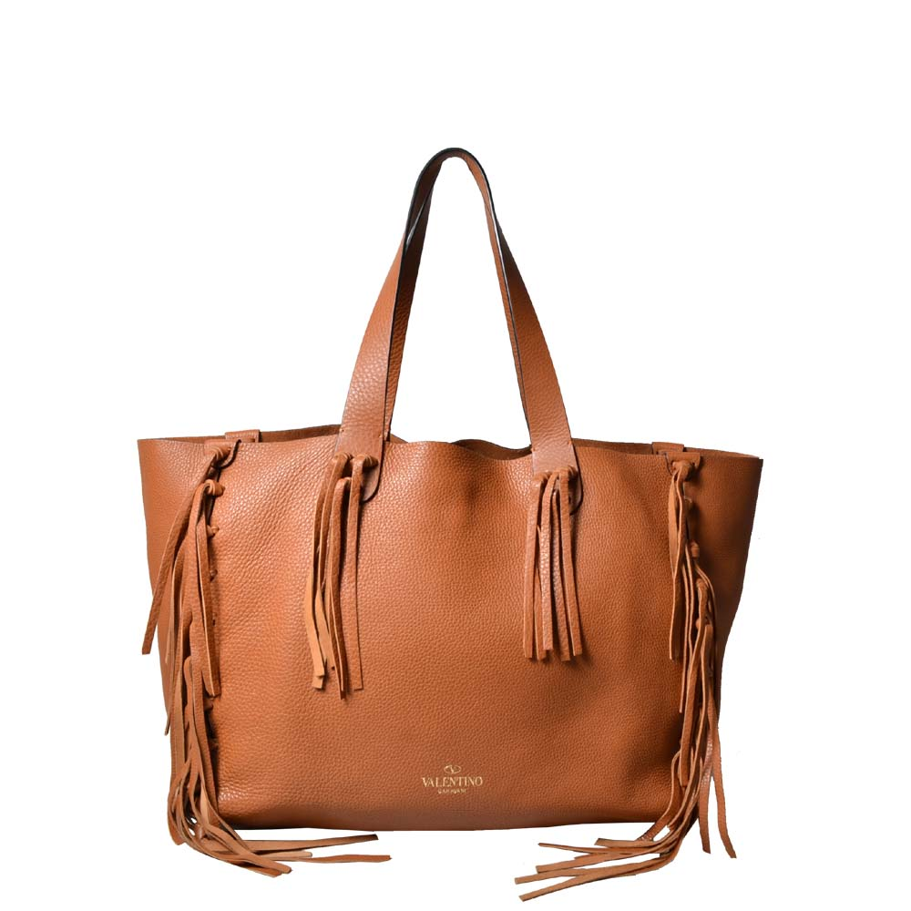 Valentino Tasche Fringe Collection caramel 1.300 ( )ewa lagan secondhand frankfurt