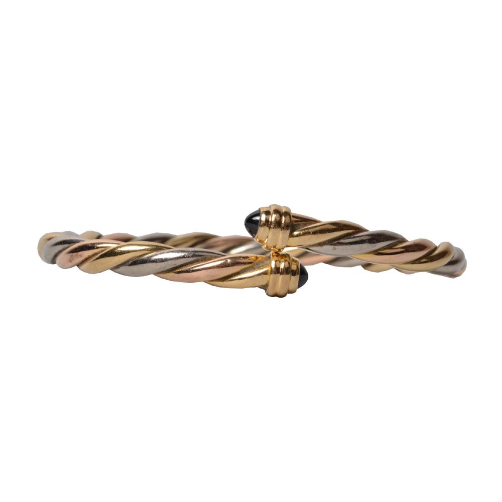 Cartier Armreif Gold 750 Gr. 51 Jahr 1995 D 14185 2 Saphire _2 ( )