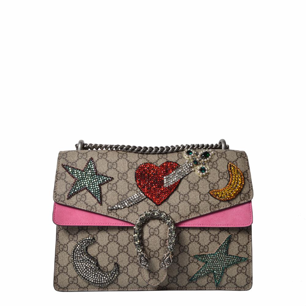 Gucci Tasche Dionysus GG Logo Stein Mond Herz Pink Beige 1.800 ( ewa lagan secondhand frankfurt