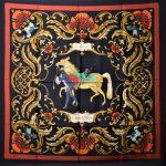 Hermes Carre Seidentuch Silk Seide Soie Cheval Turc 300(135)