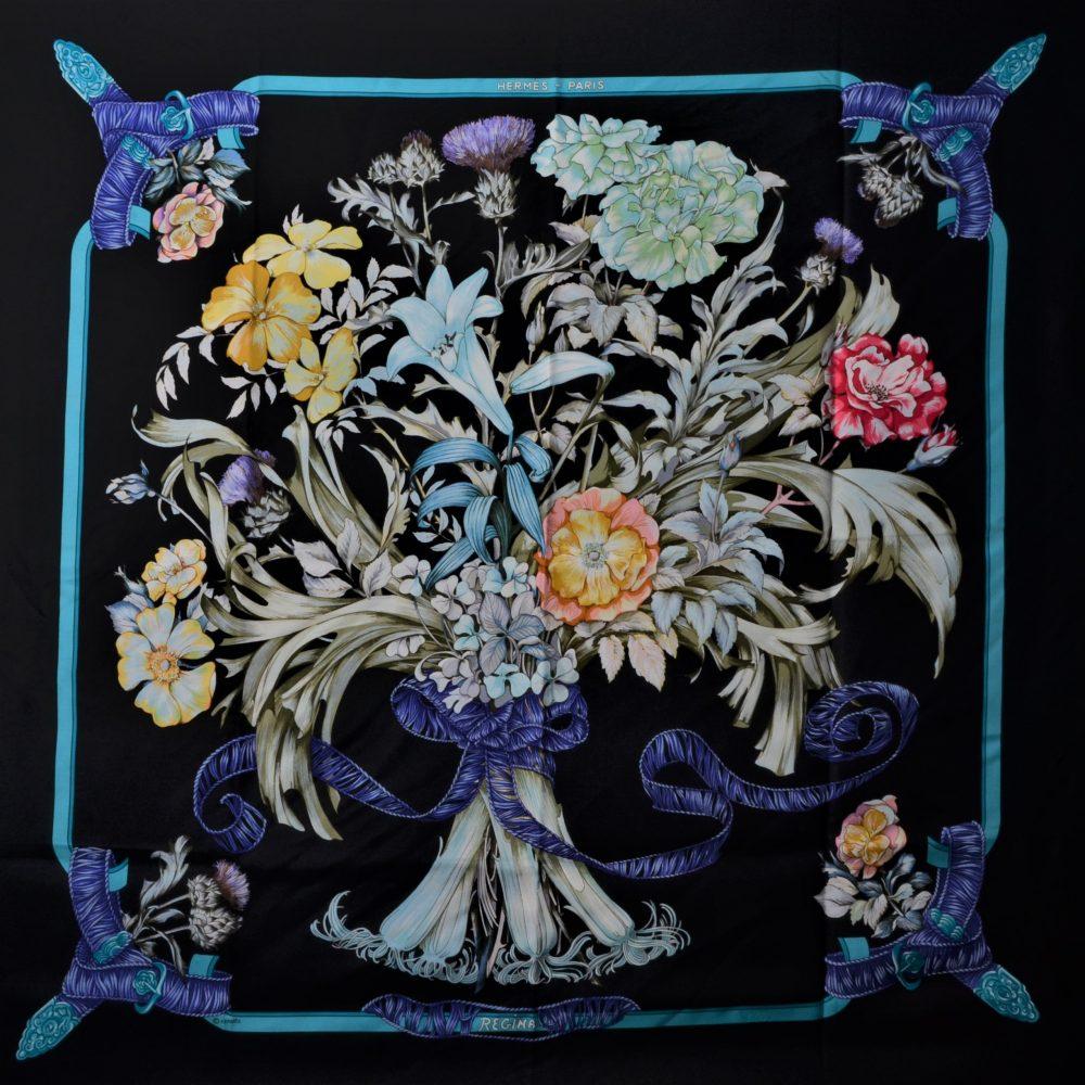 Hermes Carre Seidentuch Silk Seide Soie Regina 280(142) – Kopie