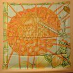 Hermes Carre Silk Seide Soie Jardin Creole Detail (1) – Kopie – Kopie