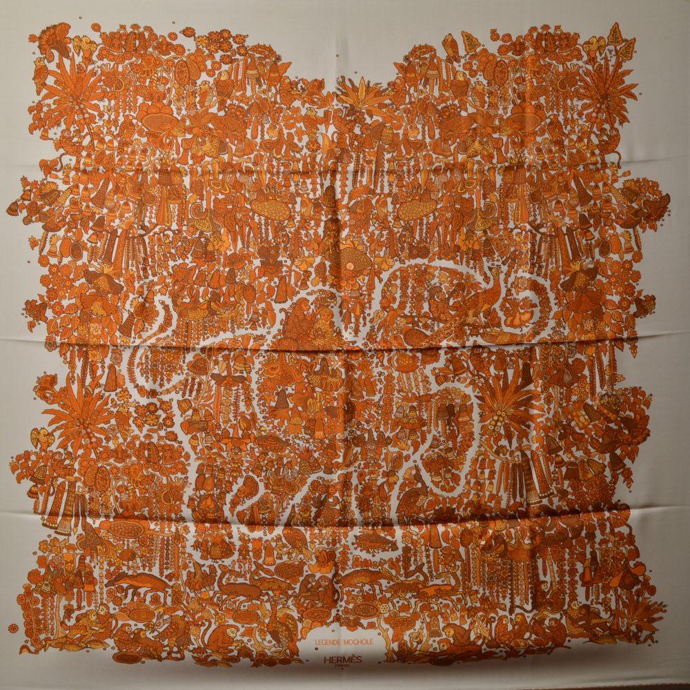 Hermes Carre Silk Seide Soie Legende Moghole (1)