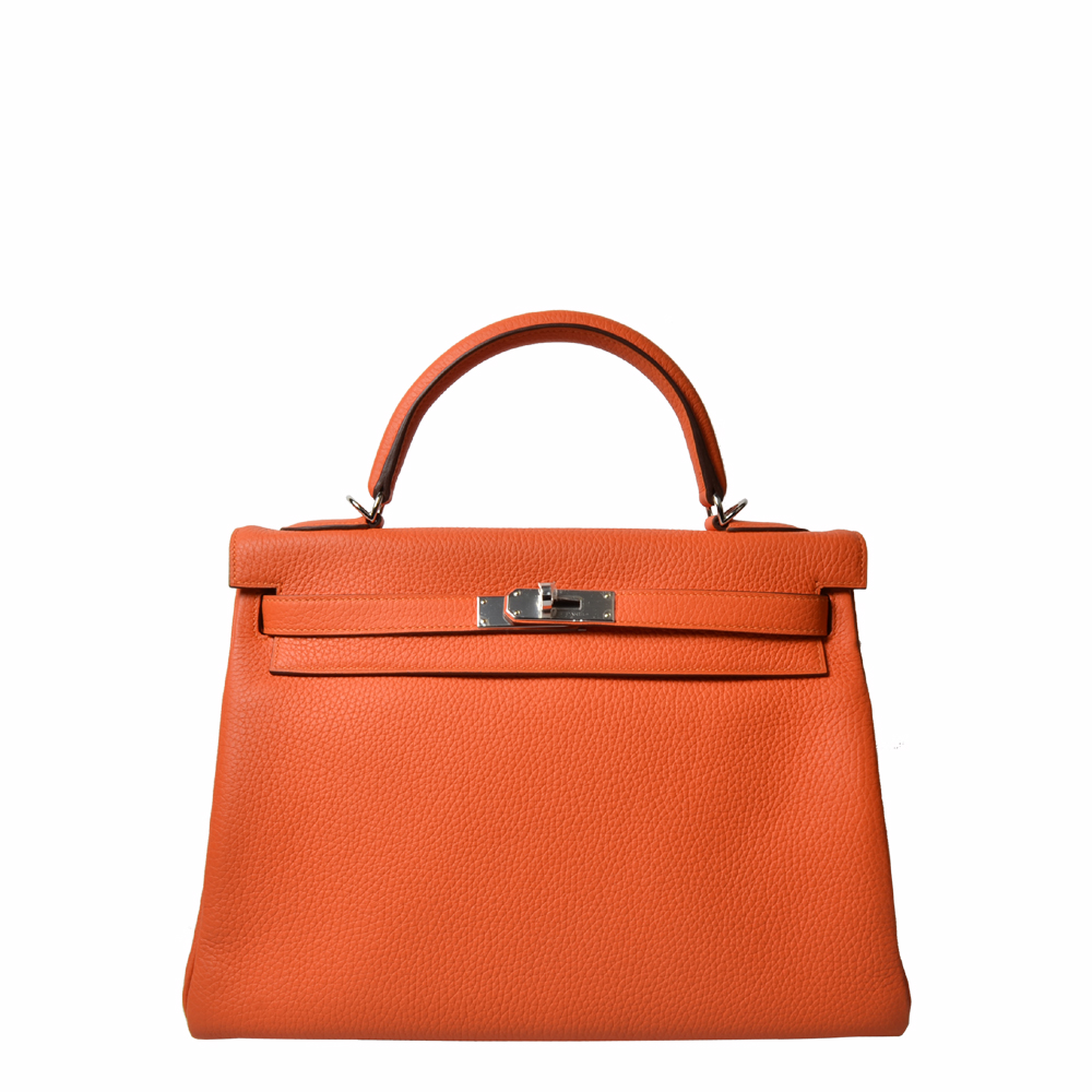 Hermes Kelly 32 Orange Palladium 15.000 ( )ewa lagan secondhand frankfurt