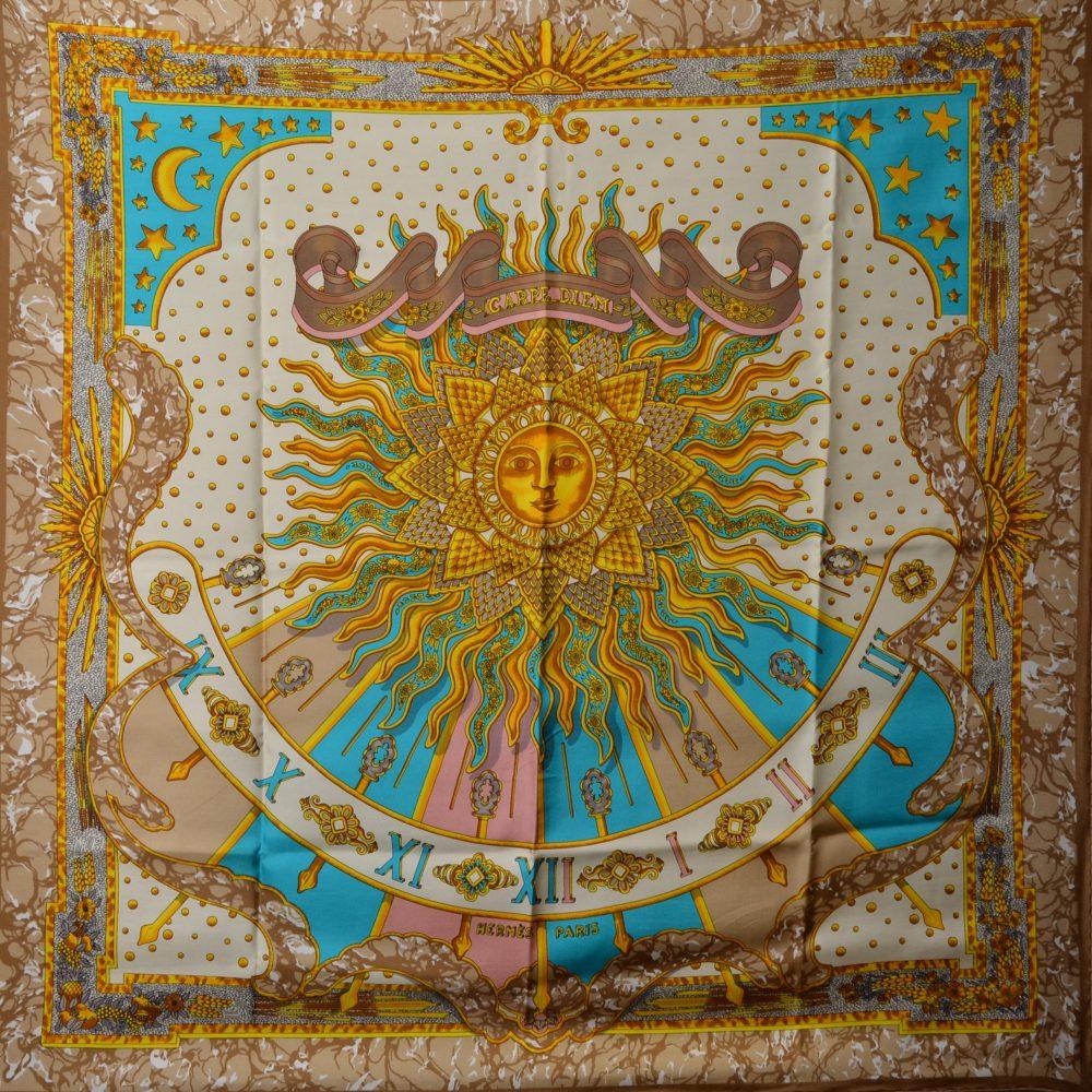 hermes Carre Silk Seide Soie Carpe Diem (1) – Kopie – Kopie