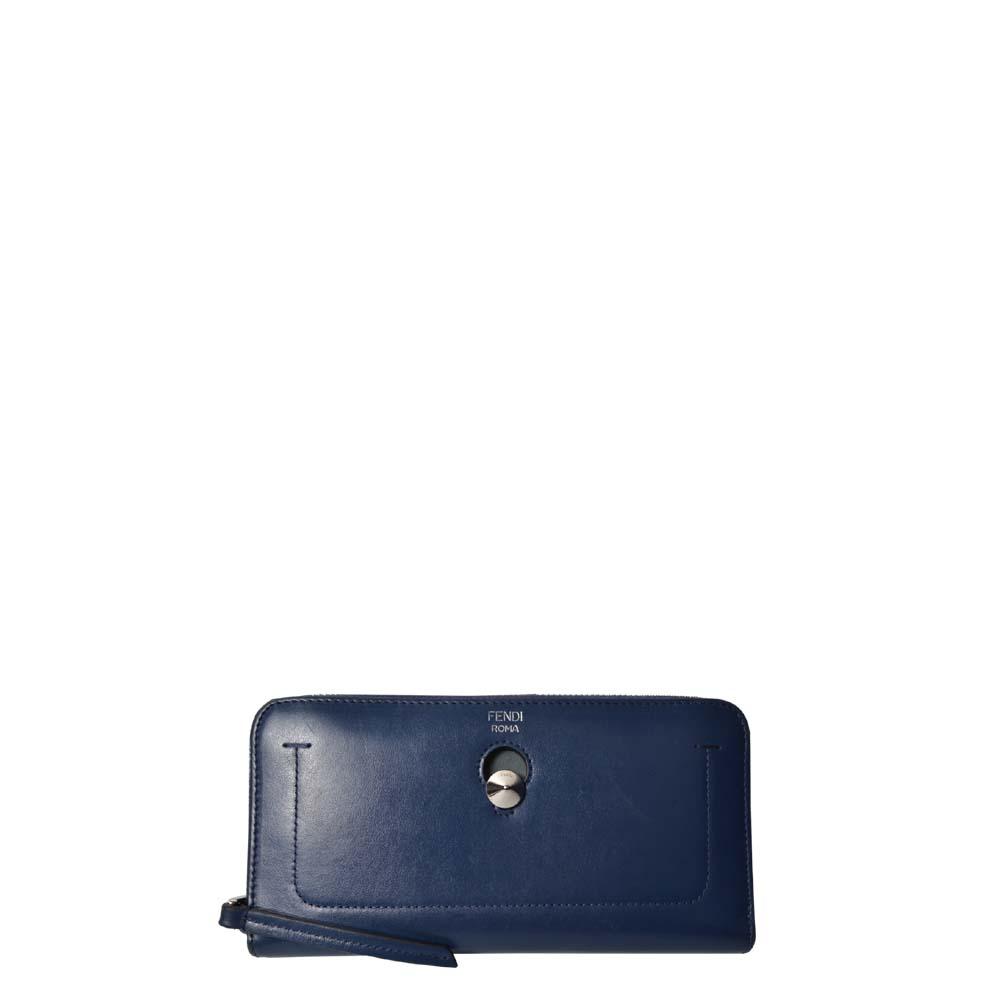 Fendi Geldbörse Leder Blau Zip Dot 280 ( ) Kopie