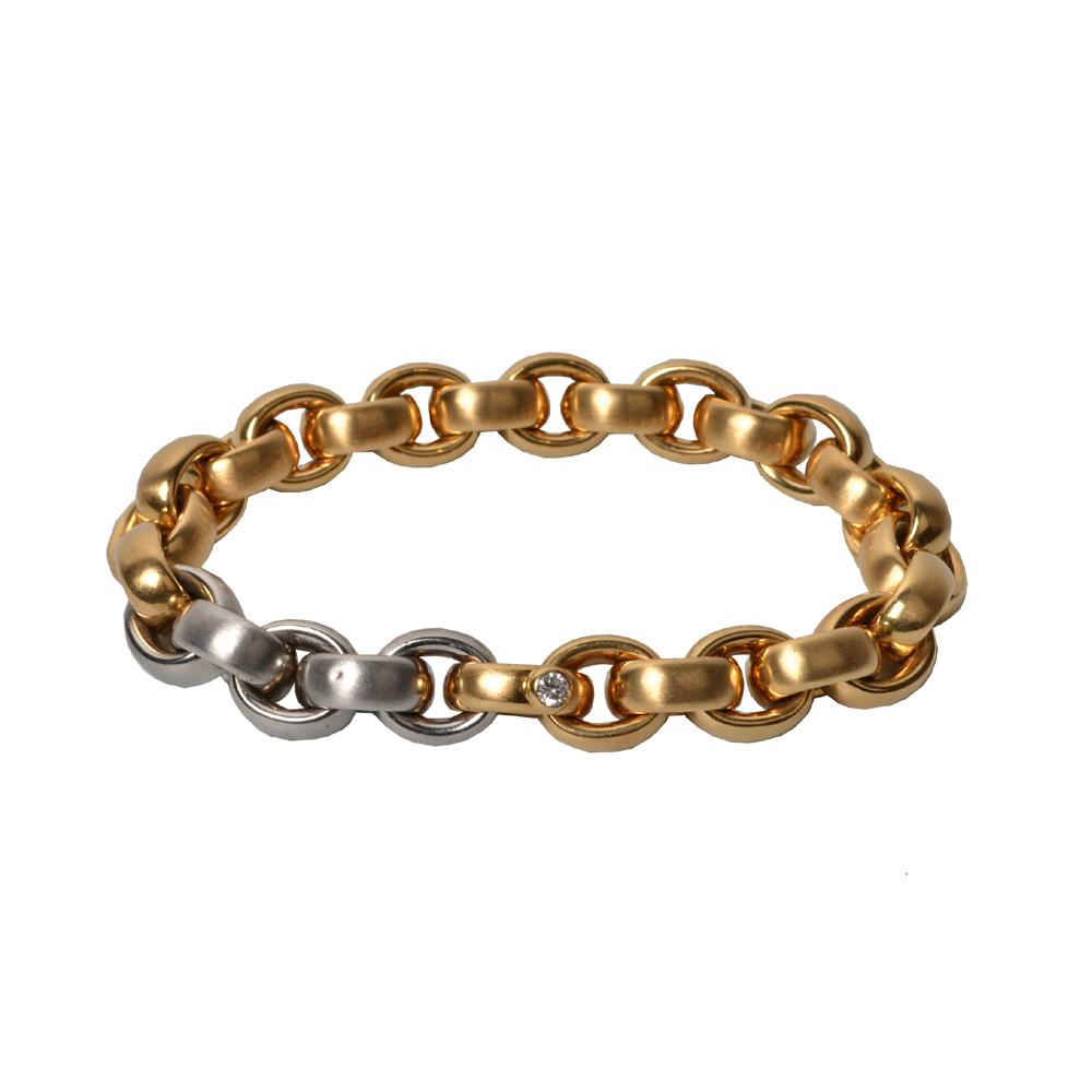 Isabelle Fa Glieder Armband Gelbgold mit Diamand und Platin 4.900 _3 ( )