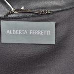Alberta Ferretti Mantel Coat Leder leather black 42 (4)