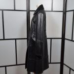 Alberta Ferretti Mantel Coat Leder leather black 42 (7)