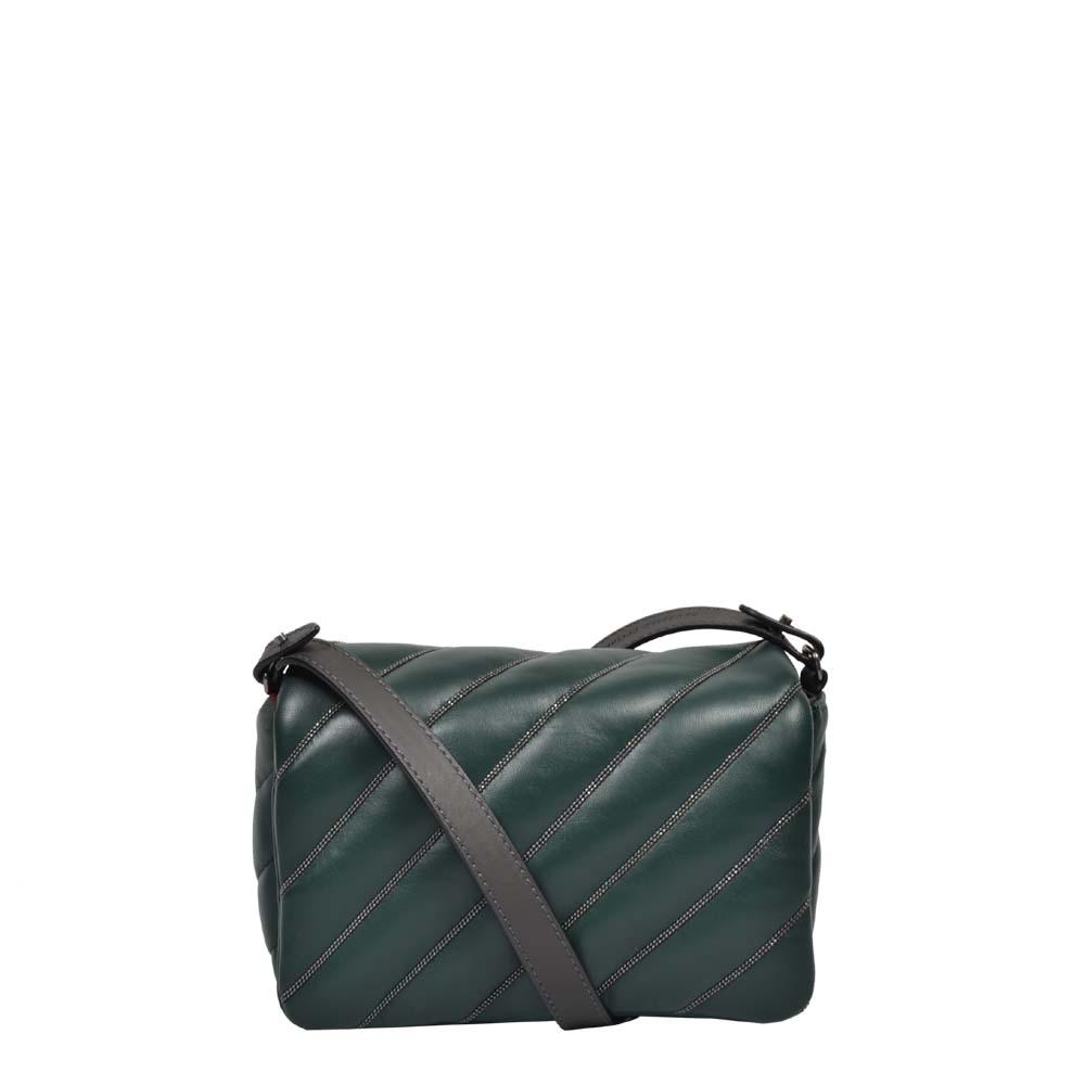 Brunello Cucinelli Tasche Crossbody klein leder grün 750 ewa lagan secondhand