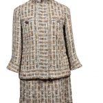 Chanel Costume Suit Tweed Boucle 34 beige