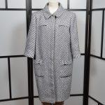 Chanel Mantel Coat blue white (1)