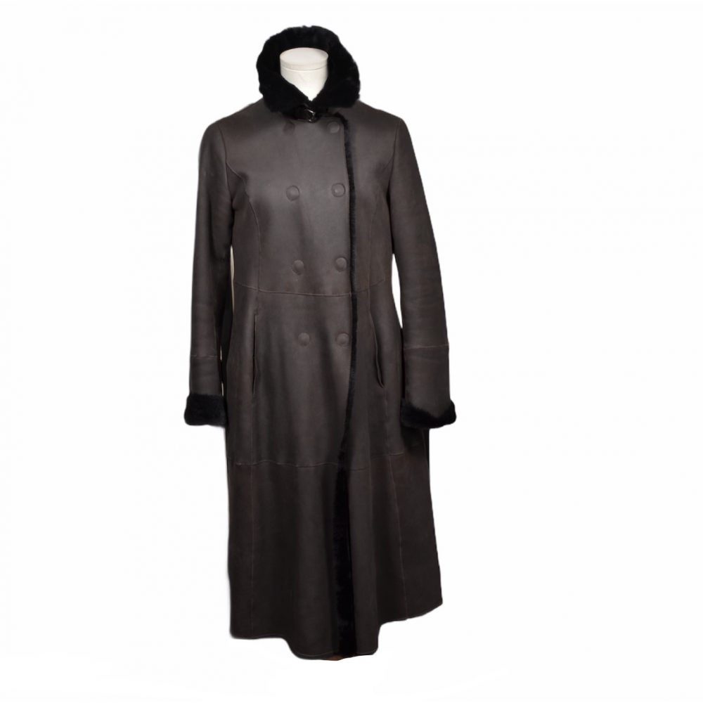 Giorgio Armani Mantel coat Lambskin Lammfell it.42 brown