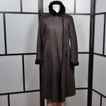 Girgio Armani Mantel coat Lambskin Lammfell 42 brown (1)