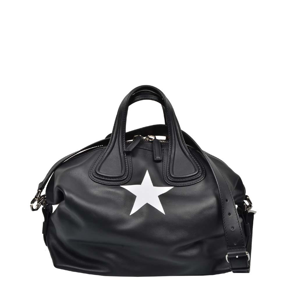 Givenchy Tasche Schwarz Leder mi Stern mit Silber 900 ( 35x25x16,5cm ) ewa lagan secondhand frankfurt