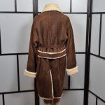 Hermes Paris Lammfel Mantel Coat Lambskin brown 38 (7)