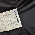 Jil Sander Mantel Coat Nylon schwarz Daunen Down Kaputze 40 (1)
