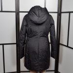 Jil Sander Mantel Coat Nylon schwarz Daunen Down Kaputze 40 (4)