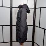 Jil Sander Mantel Coat Nylon schwarz Daunen Down Kaputze 40 (6)