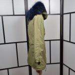 Mr & Mrs Coat Mantel Kaki 38 M Coton Baumwolle Waschbär Racoon (6)