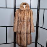 R & L Rosenberg 6 Lenhart Mantel Coat Sable Zobel Canada Pelz 34 (5)