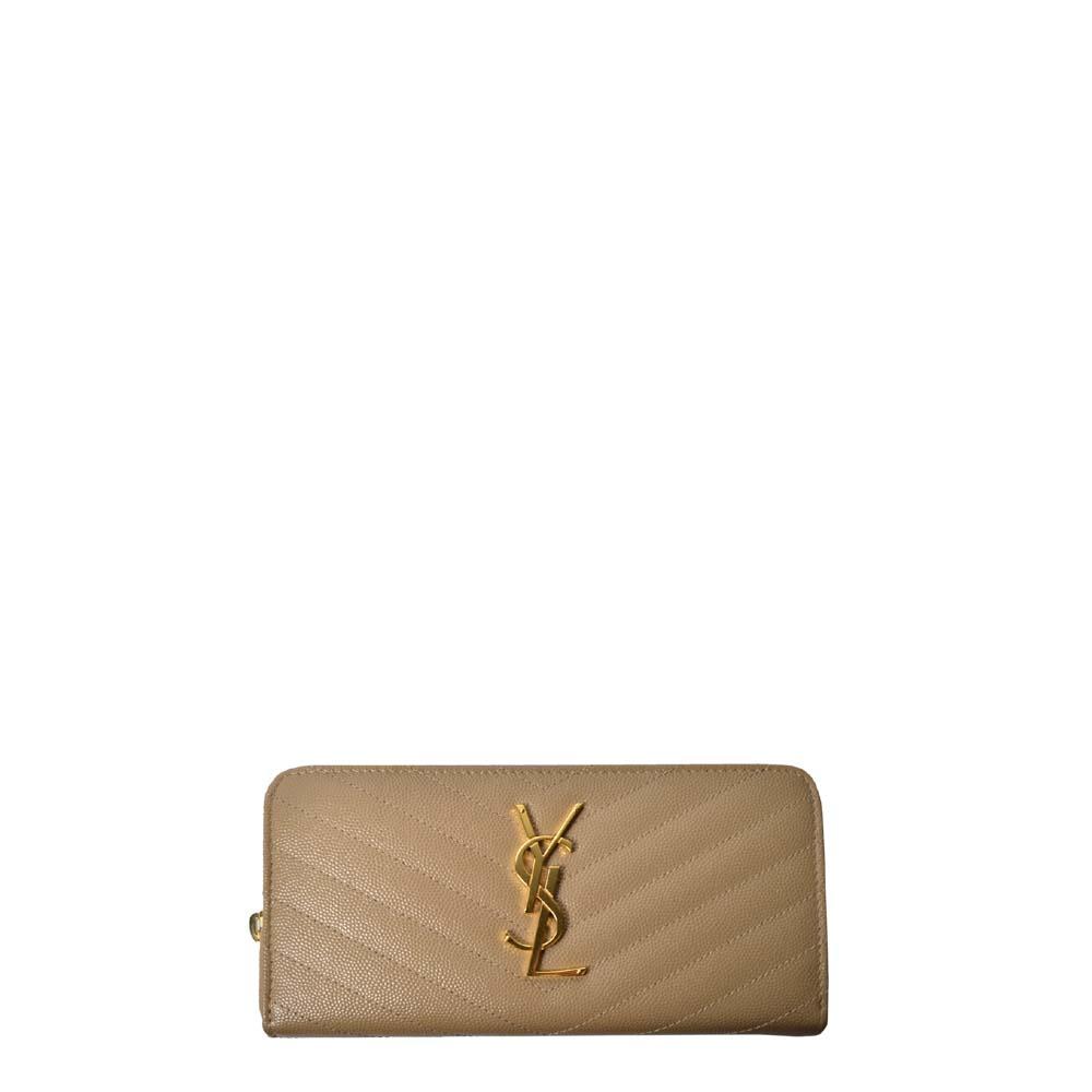 Yves Saint Laurent Geldbörse Cavier beige gold 450 ( ) Kopie