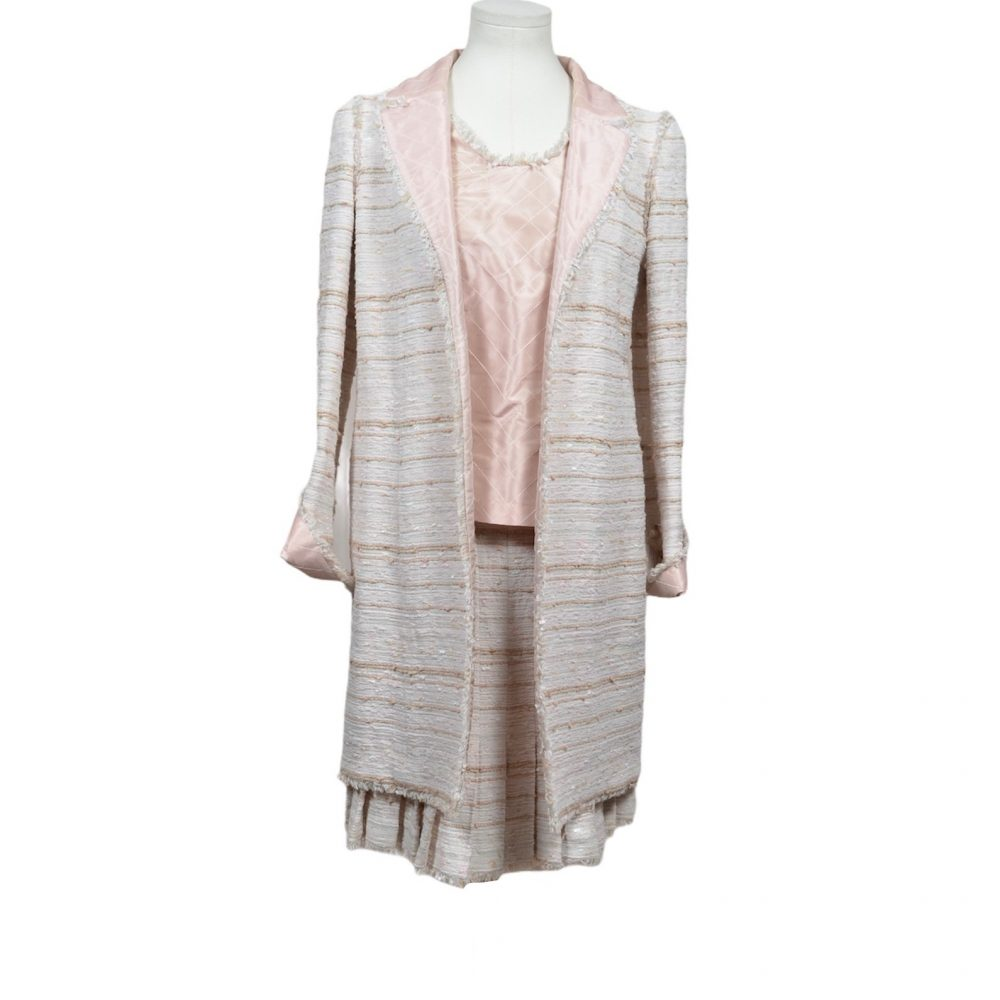 cahnel 3 teiler coat mantel skirt top 34