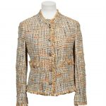 chanel blazer 38 tweed 1200 ply acryl